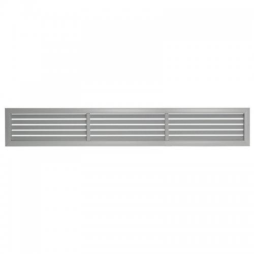 Plastová mřížka s pevnou horizontální žaluzií 363 x 1214 mm, šedá   DALAP GPHG 1200x350