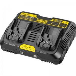 Nabíječka XR Li-Ion pro dvě baterie 10,8-18V + 2 USB porty DeWALT DCB102