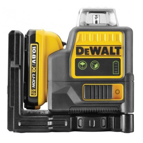 Aku křížový zelený laser 2x360° 10,8V XR 1x2,0Ah DeWALT DCE0811D1G