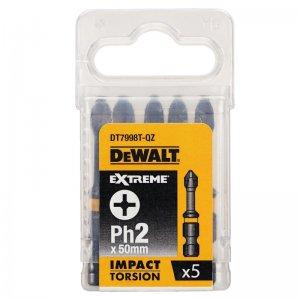 Sada Torsion bitů Ph2x50mm 5ks DeWALT DT7998T
