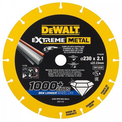 Diamantový kotouč EXTREME METAL 230mm DeWALT DT40255