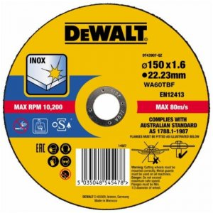 Řezný kotouč 150 x 1,6mm, typ 1 DeWALT DT43907