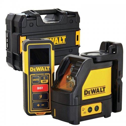 Set křížového laseru a dálkoměru DeWALT DW0889