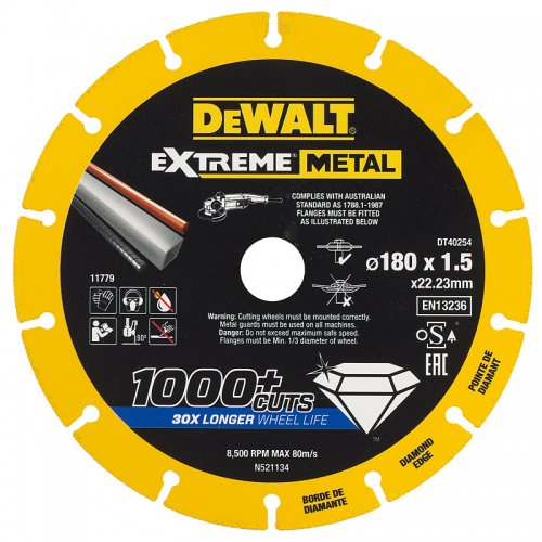 Diamantový kotouč EXTREME METAL 180mm DeWALT DT40254