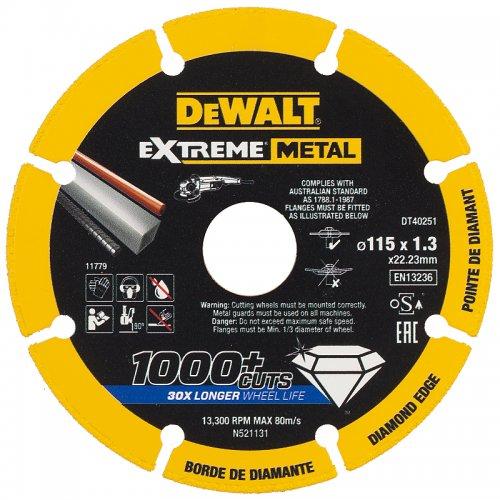 Diamantový kotouč EXTREME METAL 115mm DeWALT DT40251