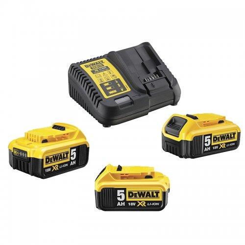Sada nabíječky a baterií XR Li-Ion 18V 3x5,0 Ah DeWALT DCB115P3