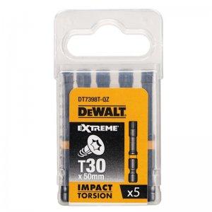 Sada Torsion bitů T30x50mm 5ks DeWALT DT7398T