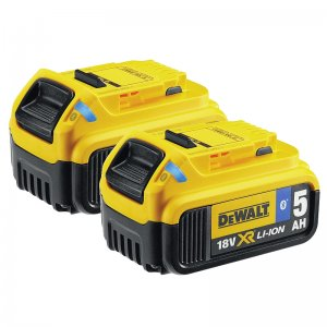 2x akumulátor 18V 5,0Ah XR-Li-Ion s Bluetooth DeWALT DCB284B