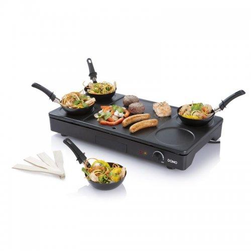 Elektrický lívanečník a gril s wok pánvemi DOMO DO8712W