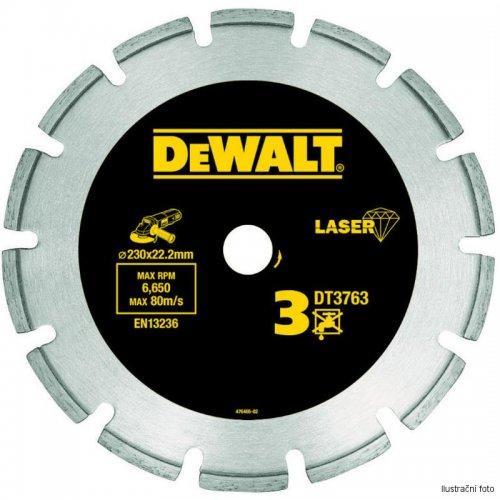 Dia kotouč Laser 3 na tvrdé materiály, žulu, vyztužený beton 125x22,2mm DeWALT DT3761