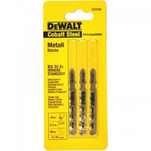 Pilový plátek Extreme na plechy do 2,5mm pro přímočaré pily 76mm 3ks DeWALT DT2156