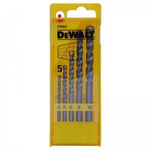 5-ti dílná sada vrtáků do zdiva DeWALT DT6952