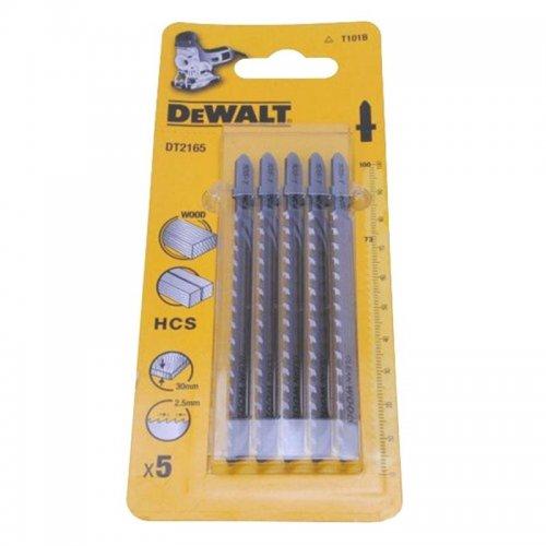 Pilový plátek na dřevo a plasty do 30mm přímý řez pro přímočaré pily 100mm 5ks DeWALT DT2165