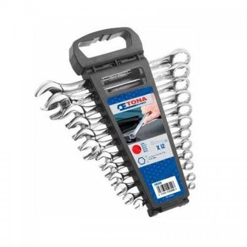 12dílná sada očkoplochých klíčů 7-24 mm v plastovém držíku TONA Expert E110309T