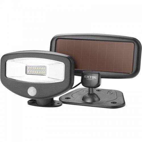 LED reflektor s pohybovým čidlem 100lm solární nabíjení EXTOL LIGHT 43270