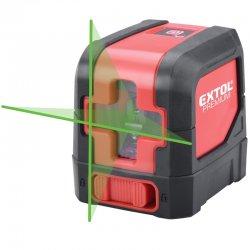 Křížový zelený liniový samonivelační laser Extol Premium 8823306