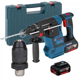 Aku kombinované kladivo SDS-Plus 2x6,0Ah Bosch GBH 18V-26 F Professional + sklíčidlo 0611910003