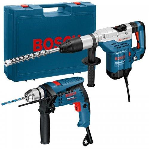 Kombinované kladivo SDS-Max Bosch GBH 5-40 DCE Professional + příklepová vrtačka GSB 13 RE