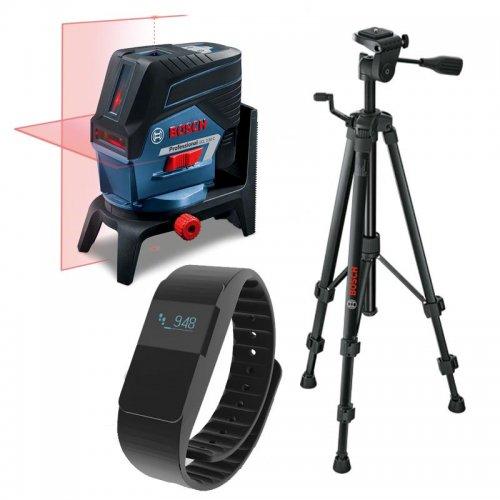 Křížový laser Bosch GCL 2-50 C Professional + stativ BT 150 + fitness náramek