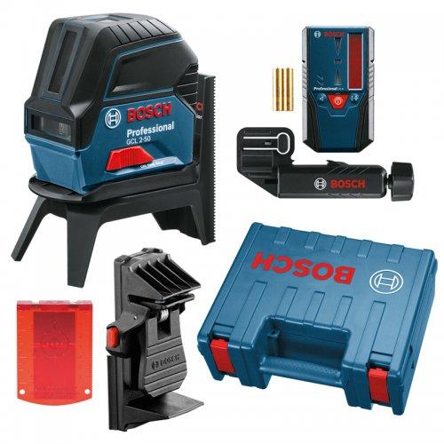Kombinovaný laser Bosch GCL 2-50 Professional + přijímač laserového paprsku LR 6