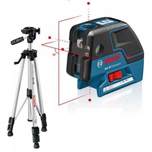 Bodový laser + stativ BS 150 Bosch GCL 25 Professional