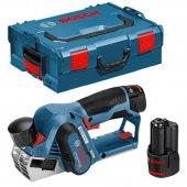 Aku hoblík 2x3,0Ah + L-Boxx Bosch GHO 12V-20 Professional