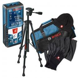 Laserový dálkoměr Bosch GLM 120 C Professional + stativ BT150 + zimní sada a taška na nářadí Bosch