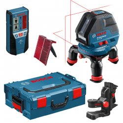 Multičárový laser Bosch GLL 3-50 Professional + L-BOXX 136 + držák BM 1 + přijímač LR 2