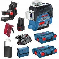 Křížový laser Bosch GLL 3-80 C Professional L-Boxx 136 + držák BM1 + L-BOXX 102 + zámek LockSmart