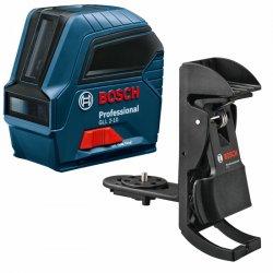 Křížový laser Bosch GLL 2-10 Professional + univerzální držák BM3