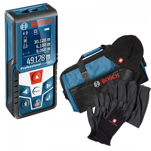 Laserový dálkoměr Bosch GLM 120 C Professional + zimní sada a taška na nářadí Bosch
