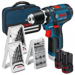 Aku vrtačka 2x2,0Ah Bosch GSR 12V-15 Professional + příslušenství 0 615 990 GB0