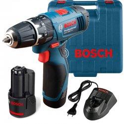 Aku vrtací šroubovák s příklepem 2x1,5Ah Bosch GSB 120-LI Professional