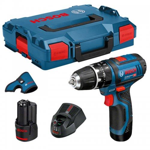 Aku vrtací šroubovák s příklepem 2x2,0Ah L-Boxx Bosch GSB 12V-15 Professional 0 601 9B6 906