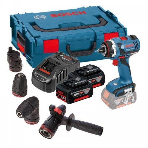Aku vrtací šroubovák 2x5,0Ah Bosch GSR 18V-60 FC SET Professional