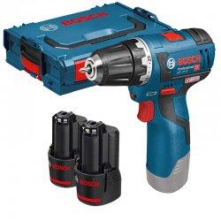 Aku vrtací šroubovák 2x3,0Ah + L-BOXX Bosch GSR 12V-20 Professional 0 601 9D4 005