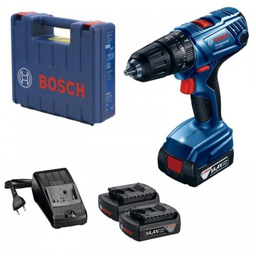 Aku příklepový vrtací šroubovák 2x1,5Ah Bosch GSB 140-LI Professional