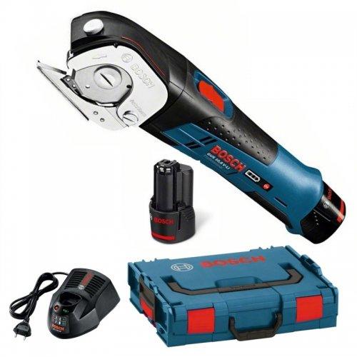 Aku nůžky 2x2,0Ah + L-Boxx Bosch GUS 12V-300 Professional