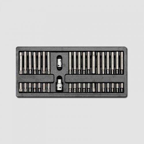 """Sada zástrčných hlavic 10mm XZN TRX IMBUS 3/8""""1/2"""" 40 dílů, plastové plato A HONITON HA085"""