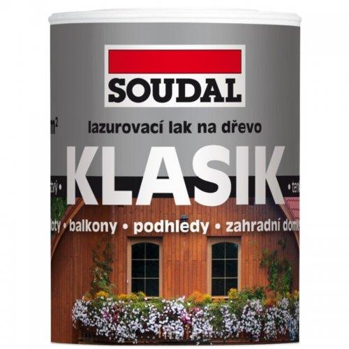Lazurovací lak na dřevo Klasik 0,75 l Palisandr Soudal 1731055