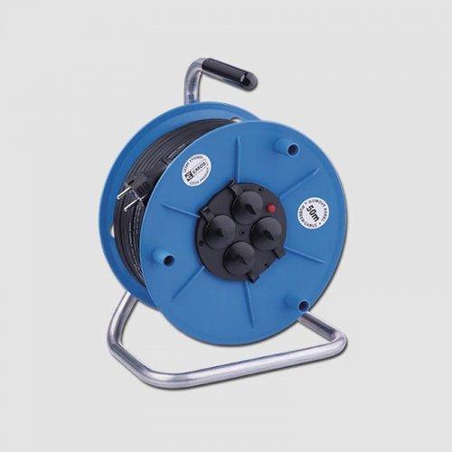 Prodlužovací kabel gumový na bubnu 230V/50m EMOS KL29250