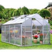 Zahradní skleník z polykarbonátu KOMFORT 7550 STRONG + základna zdarma