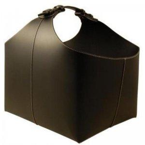 Koš na dřevo kožený černý TERMATECH 98-210