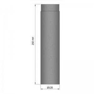 Kouřovod průměr 120mm, délka 25cm