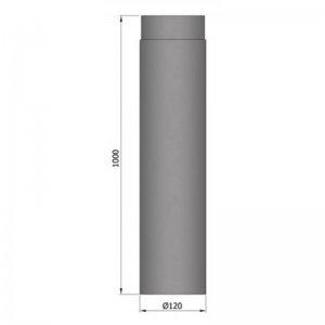 Kouřovod průměr 120mm, délka 100cm