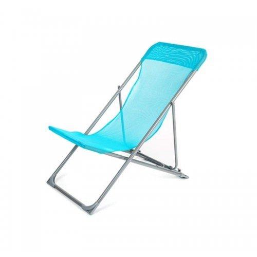 Plážové skládací křesílko HAPPY GREEN CARIBIC - světle modré A12293