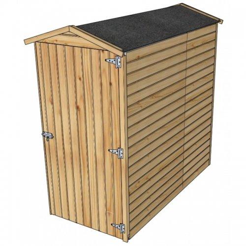 Dřevěný domek SOLID ANITA 2 - 90 x 183 cm (S858-1) LG2390