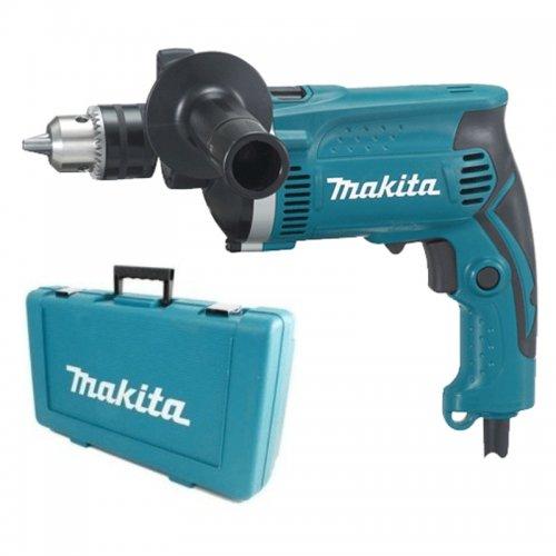 Příklepová vrtačka + kufr a rychlosklíčidlo 1,5-13mm,710W Makita HP1631KX2