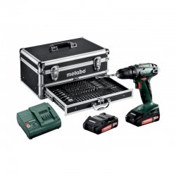Aku vrtačka 18 V 2x2,0Ah Metabo BS 18 set MD