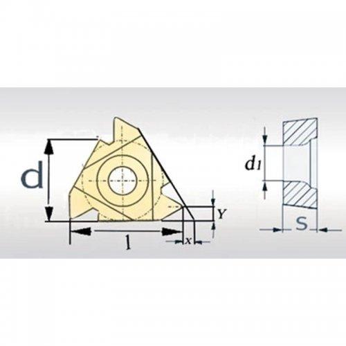 Břitové destičky Optimum 60° IR 11IRA60 5 ks